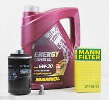 5 L MANNOL Energy Combi LL 5W-30 Longlife MANN Ölfilter Audi A4 A5 TT Q5