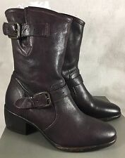 UGG COLLECTION CONCHETTA RARE WINE LEATHER SHEEPSKIN BOOTS, US 6 EU 37 1004606