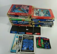 Mattel Intellivision Boxed Games Lot Sports Shooters 17 Games Untested