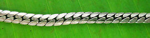 925 sterling silver OXIDISED 3mm wide flat 40cm to 55cm CHAIN Necklace UNISEX