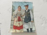 Postkarte Oldtimer Serie Trachten Sardi Weinernte S. Elena Sardinia Shipped 1962