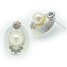 Antique Ladies Silver Stainless Stud Earrings Fashion hot Women Crystals Diamond