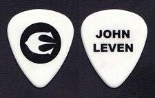 Europe John Leven Signature White Guitar Pick - 2006 Tour