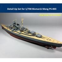 Detail Up Set for 1/700 Bismarck Meng PS-003 Model CYE006B PE Barrel Wooden Deck