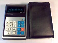Vintage Unisonic 811 Green LED Handheld Calculator JAPAN w/ Case WORKS!