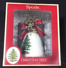 Spode Christmas Tree Bell Ornament 2013 Santa on Top Boxed