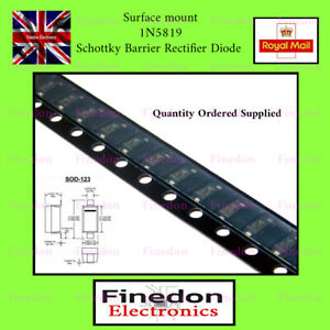 1N5819 1N5819W SCHOTTKY Diode 40V 1A S4 SS14 SOD123 1206 Tape UK Seller