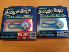 Bicycle Light Set Headlight Taillight Combo Boogie Bugs Blue Flower LED Light