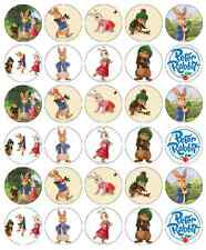 30 x Peter Rabbit Cupcake Toppers Edible Wafer Paper Fairy Cake Toppers