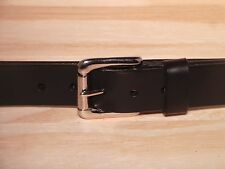 Silver Roller 1 1/4 Inch Leather Belt Waist Size Mens Ladies Black Brown Tan