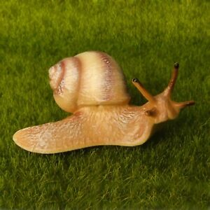 Lifelike Large Snail Beige Fairy Garden Terrarium Lawn Decor Figurine Animal Toy