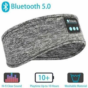 NEW Bluetooth Wireless Stereo Headphone Head Band Sleep Headset Sports Headband