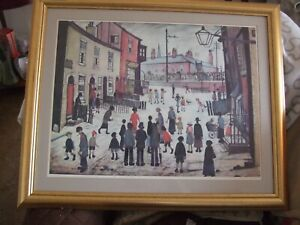 FANTASTIC L.S.LOWRY A.PROCESSION FRAMED  SIGNED AND DATED 1938  LARGE