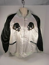 Alpha Industries Silver Black Embroidered Skull Dragon XLarge Jacket Coat