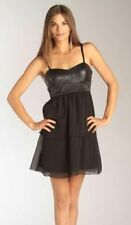 WALTER BAKER ~ Black Chiffon Tiered Sequin Bodice Empire Party Dress M NEW $128