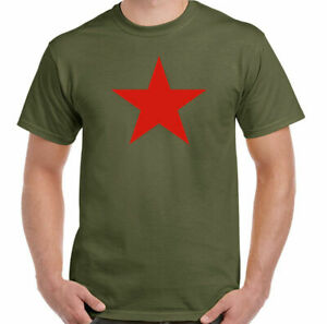Michael Stipe T-Shirt Red Star Army As Worn by Mens REM Top