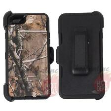 For Apple Iphone 6s Black/Tree Camo Defender Case Cover (Clip Fits OtterBox