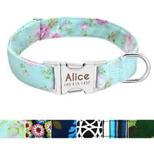 Nylon Nameplate Personalized Dog Collar Custom Disc Engraved ID Name Collars