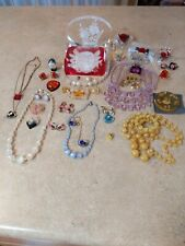 Vintage Lucite Jewelry and Other Lucite Items Lot c. 1940's-1960's