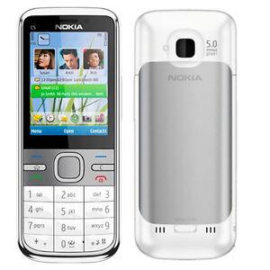 Original Nokia C5-00 Unlocked 3G 5MP Camera MP3 GOS WCDMA Mobile Bar Phone