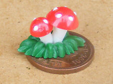 1:12 Scale 2 Plastic Toadstools Dolls House Miniature Fairy Garden Elf Accessory
