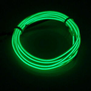 Neon LED Light Glow EL Wire String Strip Rope Tube Decor Party + USB Controller