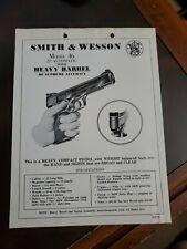 Vintage Smith & Wesson Model 46 .22 Auto Heavy Barrel Sales Flyer