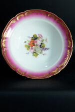 Coupe  Compotier Bouquet de Roses PORCELAINE DE PARIS Or Plate Chabby chic 19thc