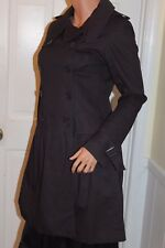 Forever 21 Womans Cotton Trench Coat Double Breasted Spring Summer Small Med