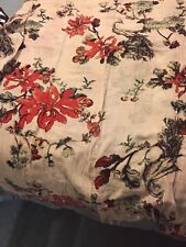 Hinge women's floral cotton/linen very long shawl/pareo  one size