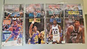 Lot of 12 Beckett Basketball Monthly Magazines 1991-1995 Shaq, Barkley, Malone..