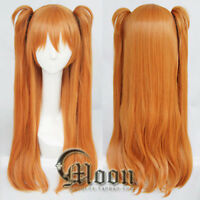 EVA Asuka Soryu Asuka Langley Orange 2 Clip Ponytail Cosplay Wig Hair wigs