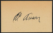 Cap Anson Autograph Reprint On Genuine Original Period 1890s 3x5 Card