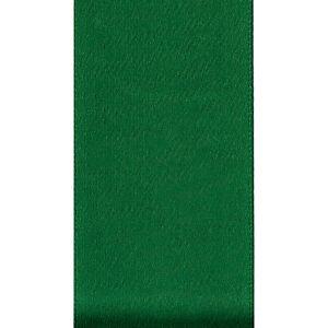 "5 Yds SINGLE FACE DARK GREEN SATIN  RIBBON  7/8"" Wide"