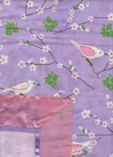 LANTERNS Oritental Lilac Blossoms SINGLE Quilt Doona Cover Set Emb. Sequin