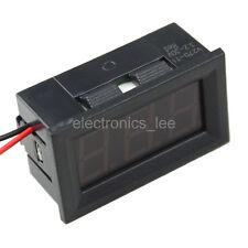 Red V27D-T1 2 wire Digital volt meter DC3.2-30V Voltage meter Voltmeter