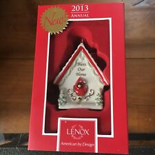 NEW 2013 Lenox Bless Our Home Birdhouse Ornament