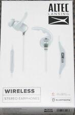 NEW Altec Lansing MZW100-WHT Waterproof In-Ear Earbuds Headphone FREE SHIPPING!