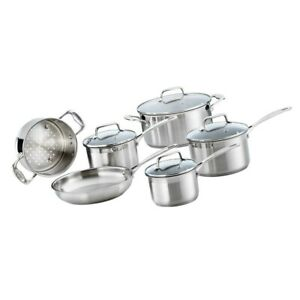 Baccarat iconiX 6 Piece Cookware Set Stainless Steel Mirror Finish Cookset