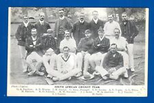 Original Postcard South African Cricket Team 1907