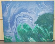 WILLIAM A. LAGA Early 90's Painting (44 x 36) ORIGINAL SIGNED **COLLECTIBLE**