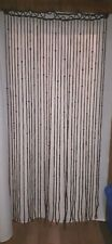 Vintage Hippie Style Wood and Plastic Beaded Curtain