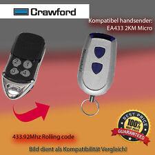 Handsender Garagentorantriebe 433,92 MHz CRAWFORD EA433 2KM Micro Funksender