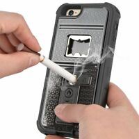 Multifunctional Cigarette Lighter Bottle Opener Phone Case for iPhone X 8 7 6