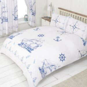 Ships and Anchors, Nautical Bed Sets (Double size 200 x 200cm)