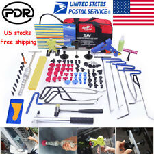 108× US PDR Push Rods Tools Paintless Dent Repair Puller Lifter Tail Hail Hammer