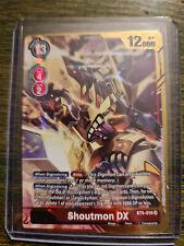 Shoutmon DX SR Alternate Alt Art BT5-019 Digimon Card Game BT05 NM