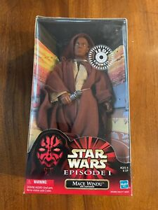 "Hasbro Star Wars Mace Windu Jedi Council 12"" Action Figure"