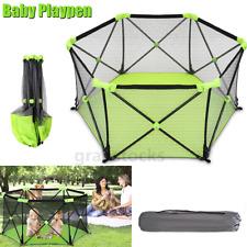 Portable Playpen Baby Playard Kids Play Yard Indoor Outdoor Fence w/Carrying Bag