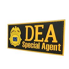 US DEA Special Agent Federal PVC Rubber 3d Badge Marshal Insignia Tag Hook Patch